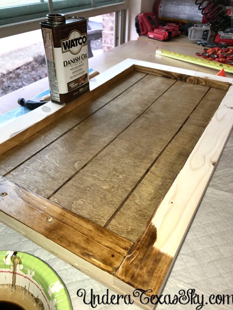 DIY Wood Serving Tray  DIY Wood Serving Tray Under a Texas Sky