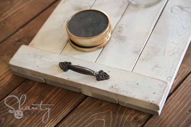 DIY Wood Serving Tray  DIY $8 Wood Tray Shanty 2 Chic