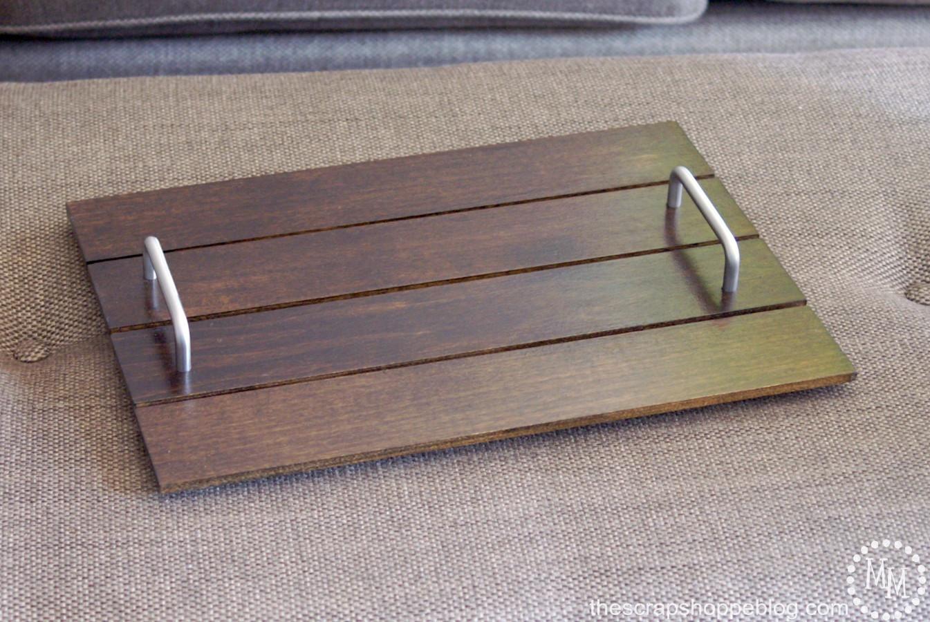 DIY Wood Serving Tray  Simple DIY Serving Tray The Scrap Shoppe