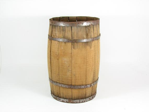 DIY Wooden Barrel  Vintage Wooden Barrel Wood Nail Keg DIY Table by