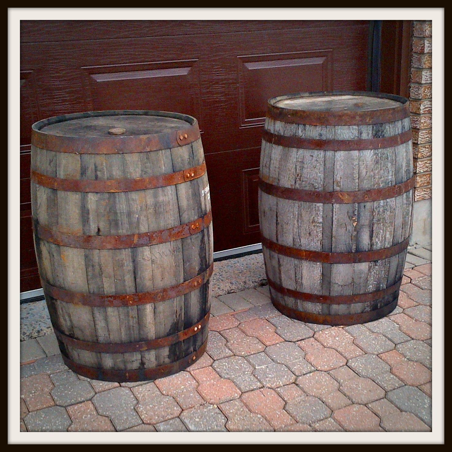 DIY Wooden Barrel  Whiskey into Water Rain Barrel DIY