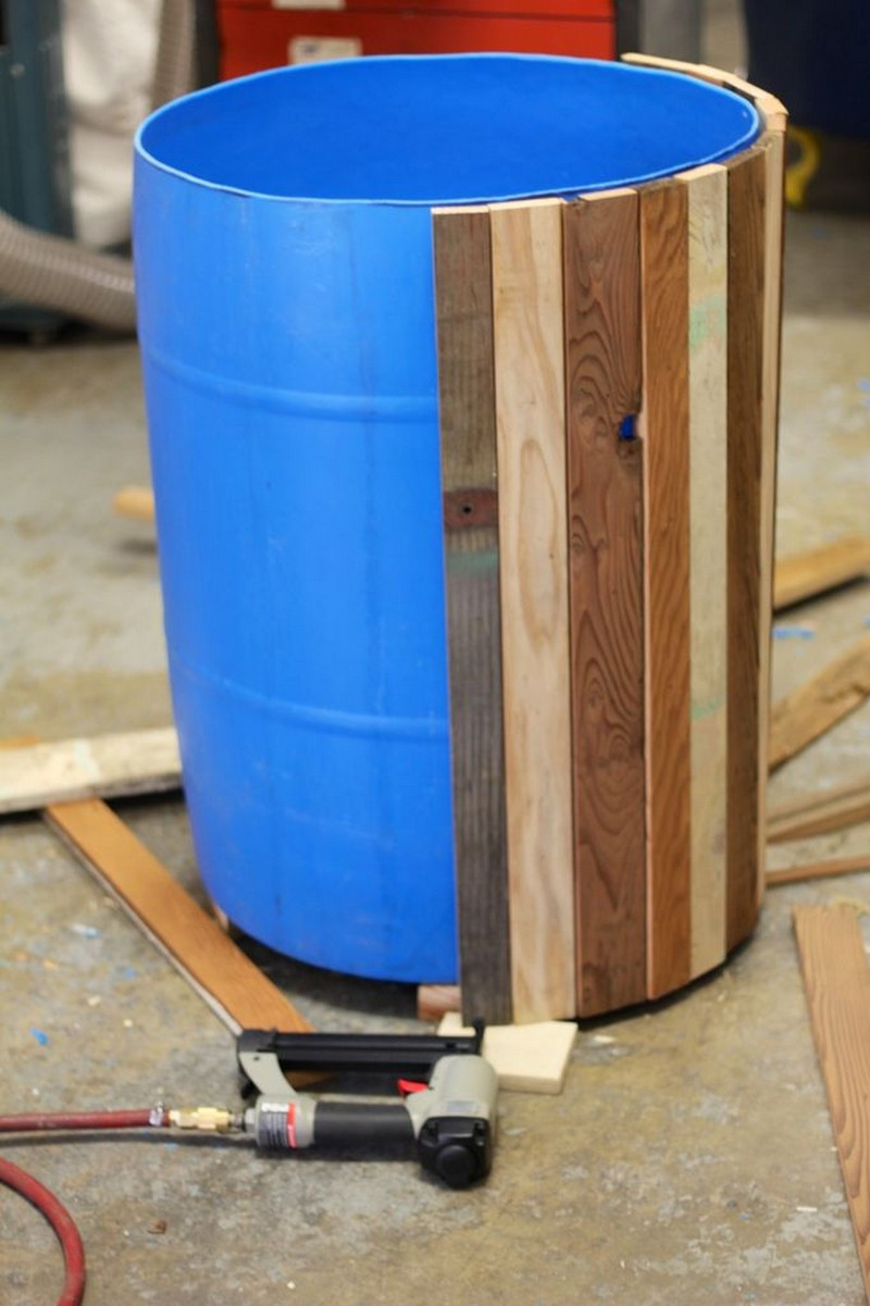 DIY Wooden Barrel  DIY Plastic Barrel Planter
