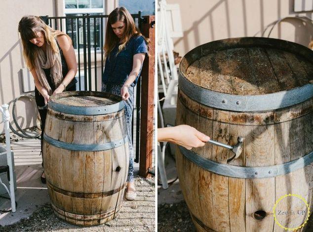 DIY Wooden Barrel  DIY Wine Barrel Serving Platter