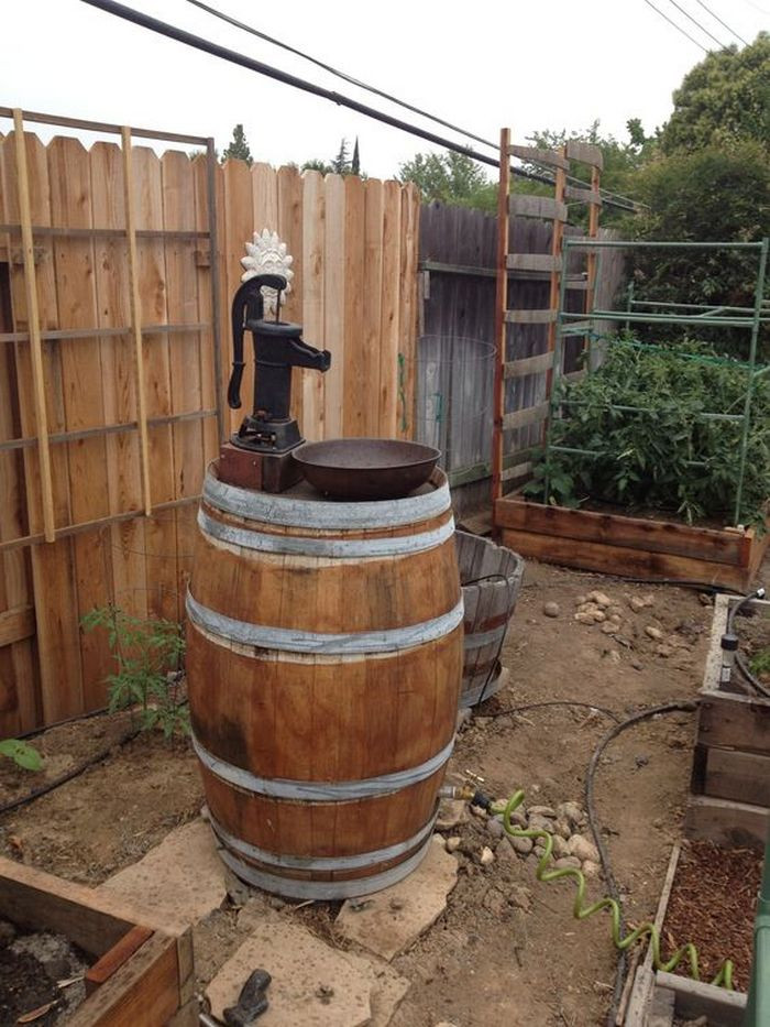 DIY Wooden Barrel  Build your own unique outdoor sink with an old wooden