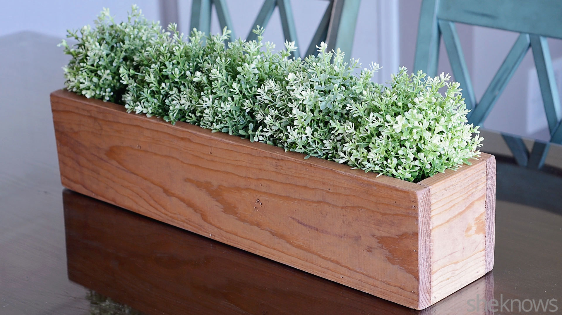 DIY Wooden Box Centerpiece  DIY wooden box centerpiece is an easy way to bring the