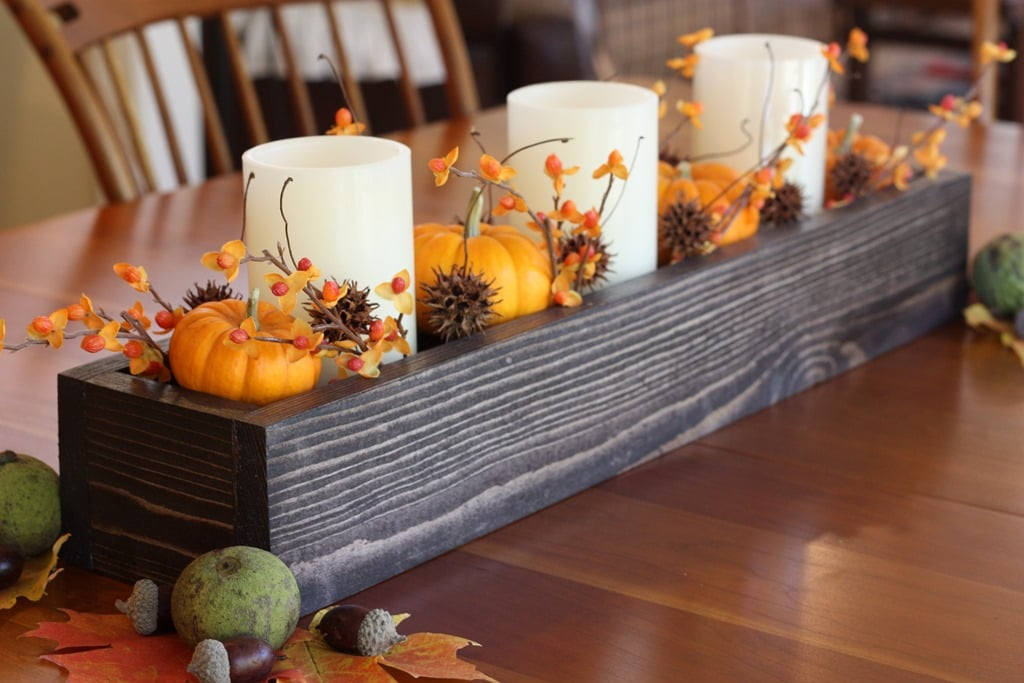 DIY Wooden Box Centerpiece  How to Make a DIY Wood Box Centerpiece for Less Than $10