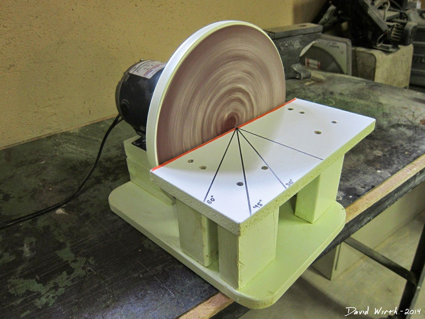 DIY Woodworking Tools  free homemade disc disk sander woodworking free tools