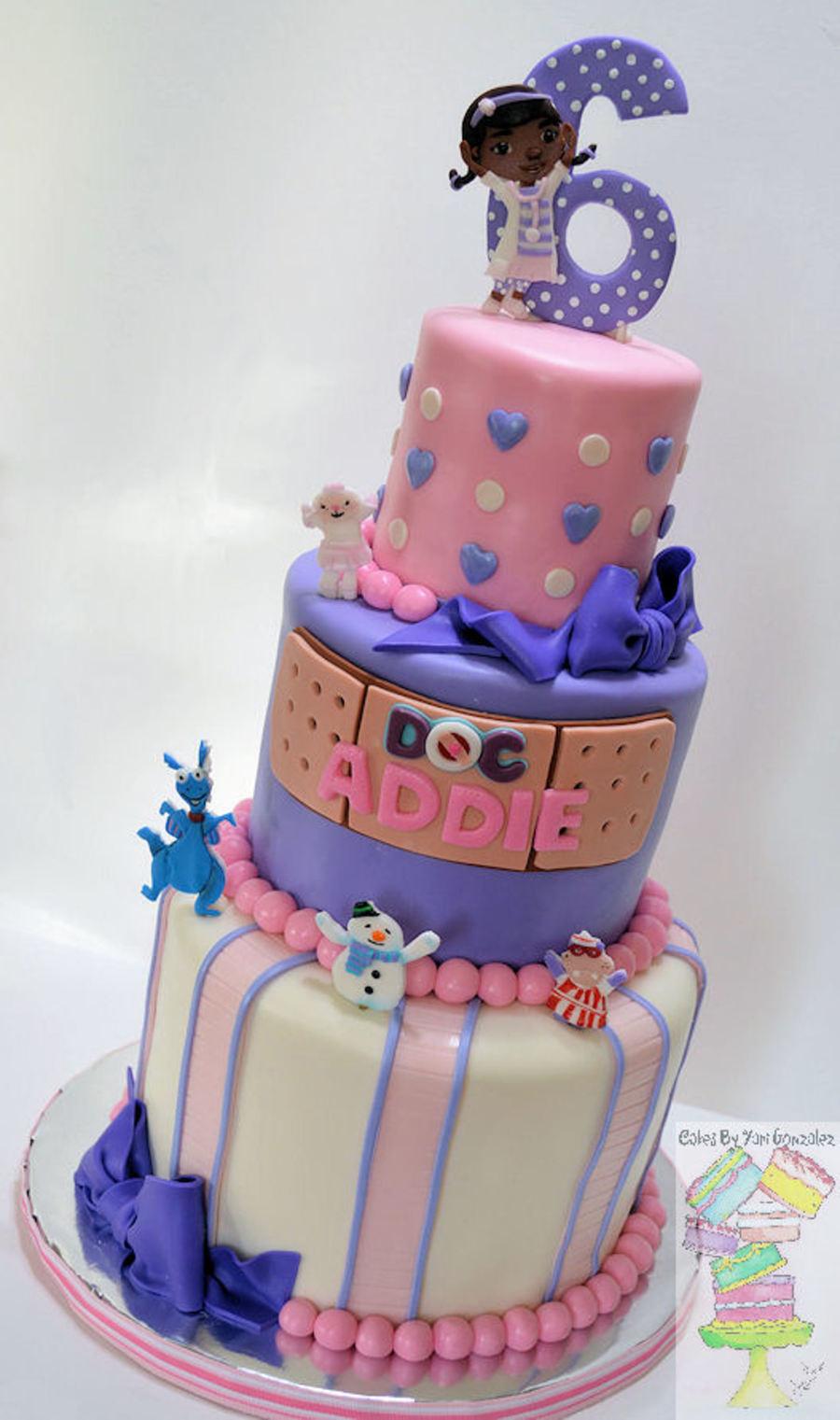 Doc Mcstuffins Birthday Cake  Doc Mcstuffins Theme Birthday Cake CakeCentral