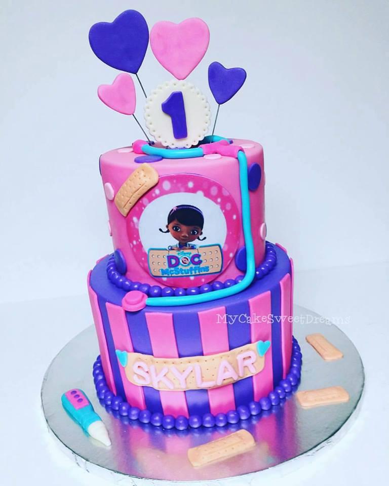 Doc Mcstuffins Birthday Cake  My Cake Sweet Dreams Doc McStuffins 1st Birthday Cake