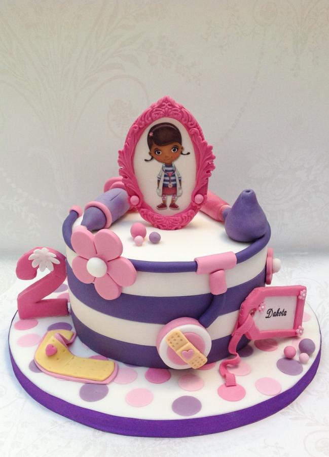 Doc Mcstuffins Birthday Cake  Doc McStuffin themed birthday cake Cake by Samantha s