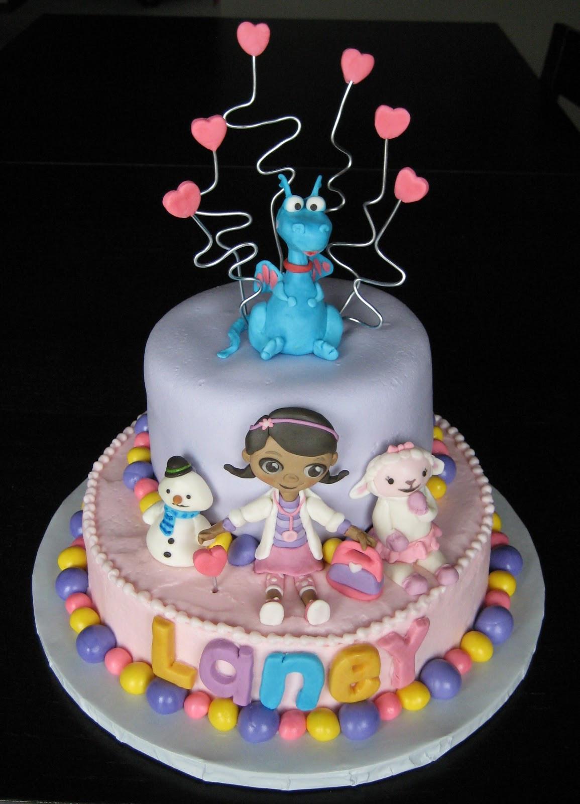 Doc Mcstuffins Birthday Cake  Custom Cakes by Julie Doc McStuffins Cake II