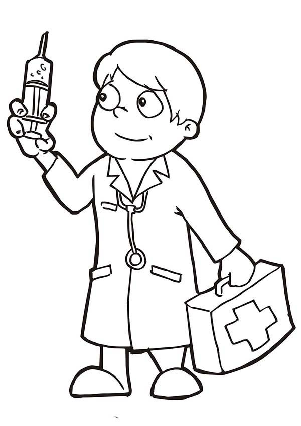 Doctor Coloring Pages  Doctors Free Colouring Pages