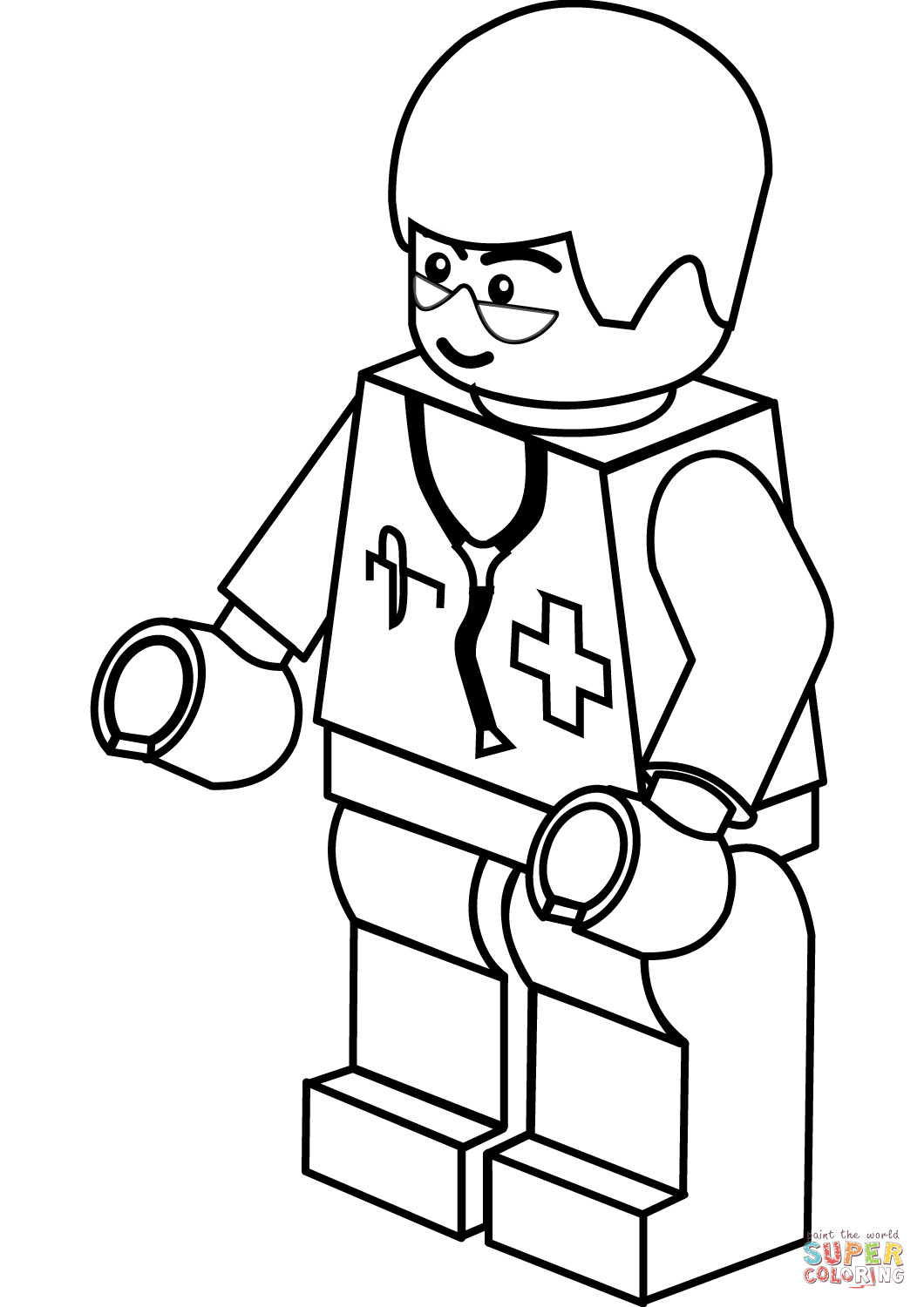 Doctor Coloring Pages  Lego Doctor coloring page