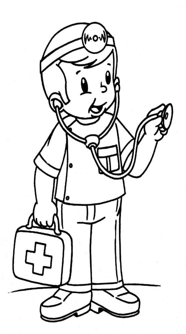 Doctor Coloring Pages  Theme doctor coloring pages Juf Milou