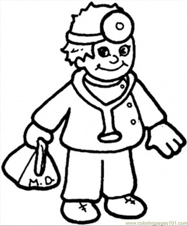 Doctor Coloring Pages  Doctor Coloring Page Coloring Home
