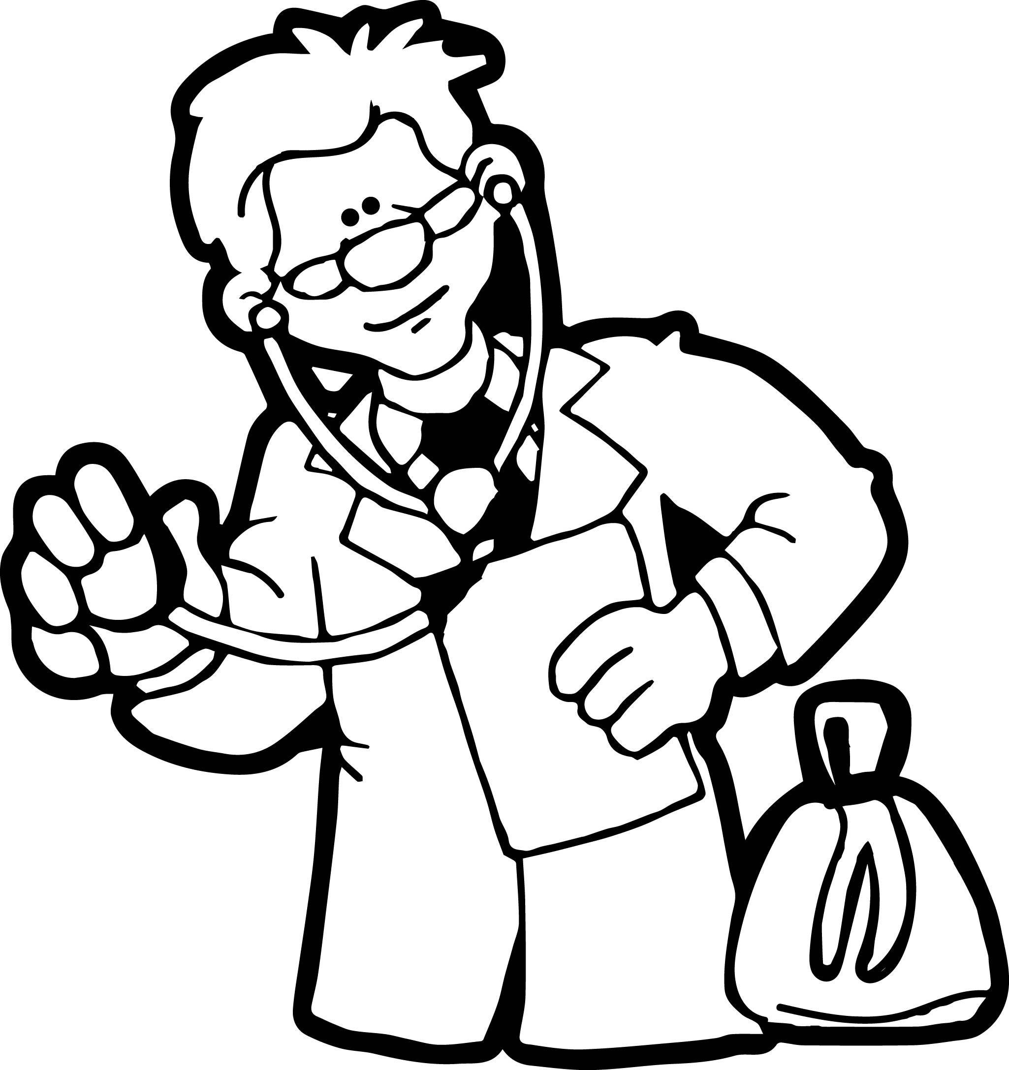 Doctor Coloring Pages  Doctor Look Coloring Page