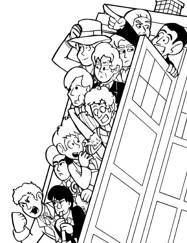 Doctor Who Coloring Book Pages  19 best images about Doctor Who Coloring Pages on