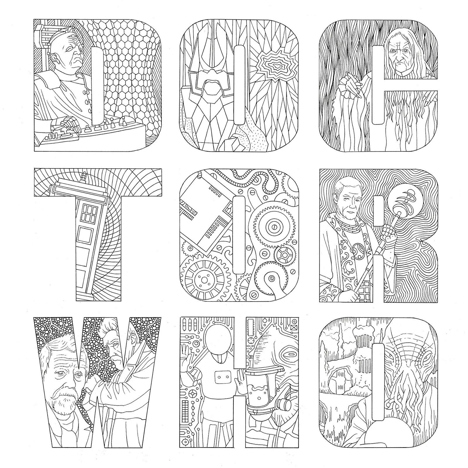 Doctor Who Coloring Book Pages  Doctor Who Coloring Pages Coloring Home