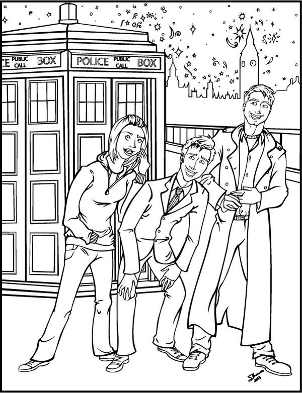 Doctor Who Coloring Book Pages  Doctor Who Coloring Pages AZ Coloring Pages