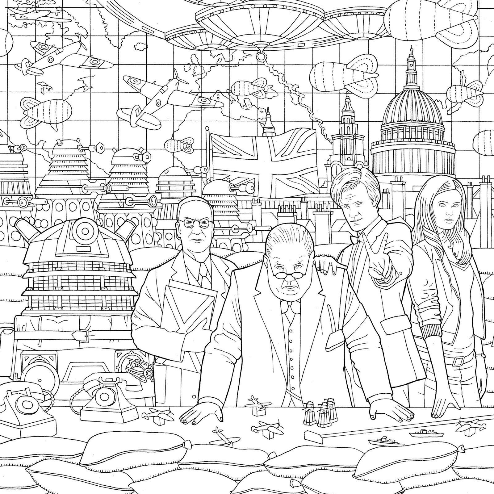 Doctor Who Coloring Book Pages  NEW Doctor Who Travels In Time Colouring Book Released