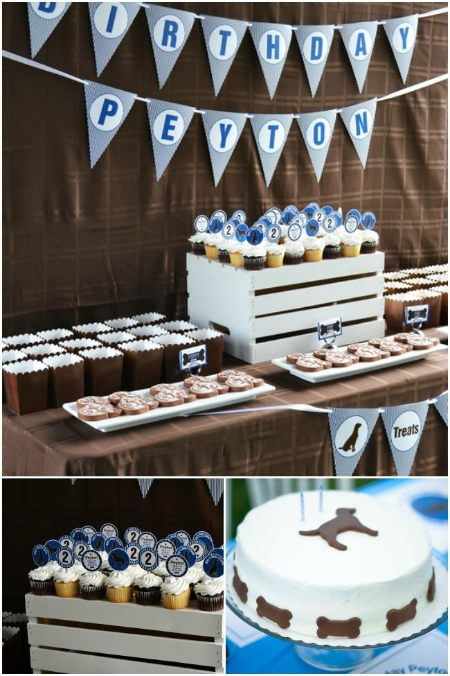 Dog Birthday Party Supplies  A Dog Themed Second Birthday Party Spaceships and Laser
