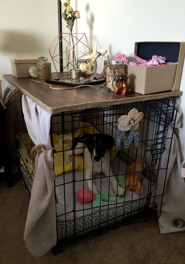 Dog Crate Cover DIY  Diy Dog Crate Table Top WoodWorking Projects & Plans
