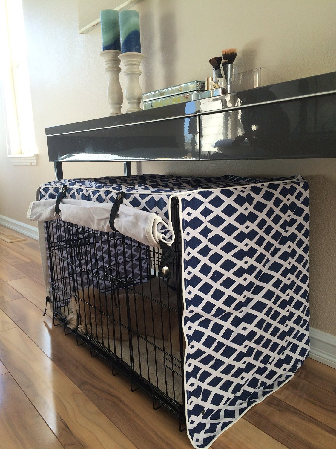 Dog Crate Cover DIY  Very Fashionable Diy Dog Crate Covers