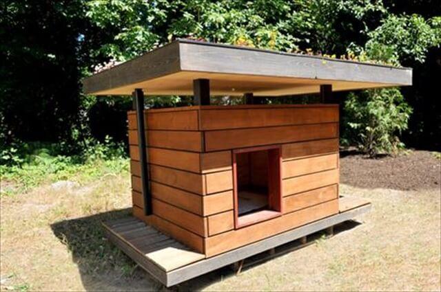 Dog House DIY  11 DIY Pallet Doghouse Ideas