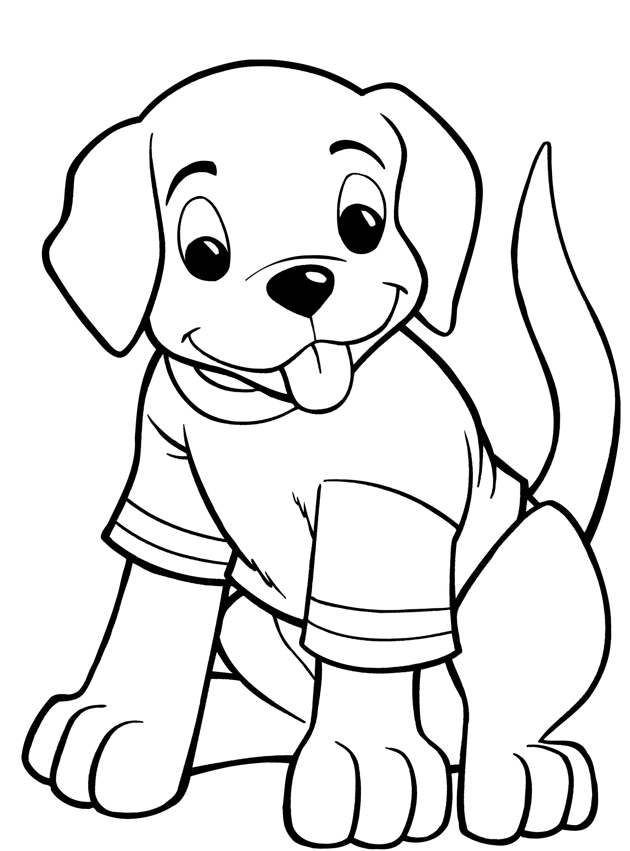 Dogs Coloring Pages  Dog Coloring Pages For Kids Preschool and Kindergarten