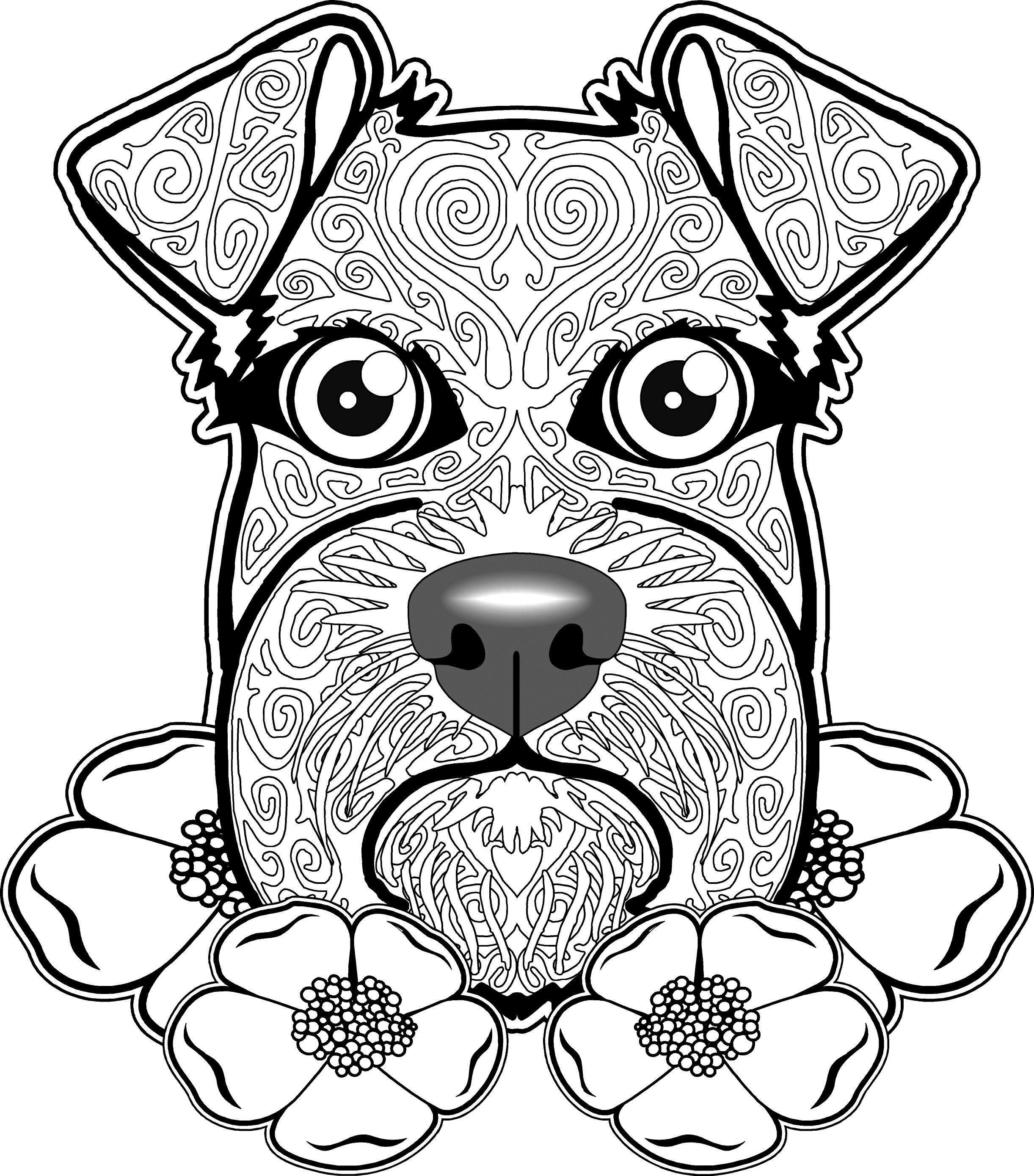 Best ideas about Dogs Coloring Pages For Adults . Save or Pin Adult Coloring Pages Dog Download Free Coloring Books Now.