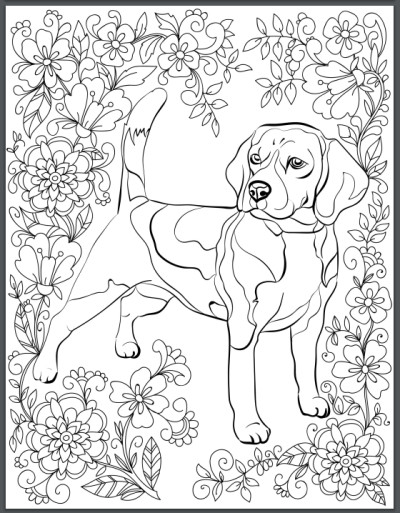 Best ideas about Dogs Coloring Pages For Adults . Save or Pin De stress With Dogs Downloadable 10 Page Coloring Book Now.