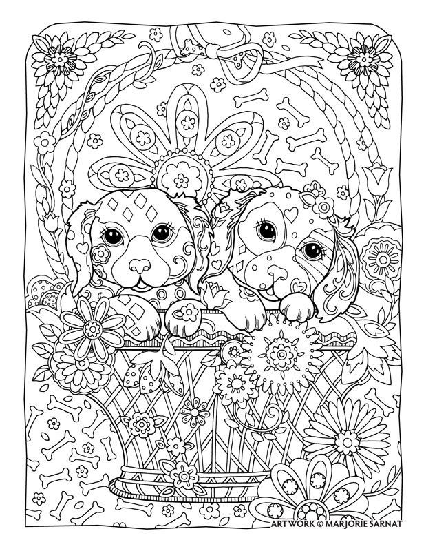 Best ideas about Dogs Coloring Pages For Adults . Save or Pin Flower Coloring Pages For Adults Printable Stain Dog The Now.