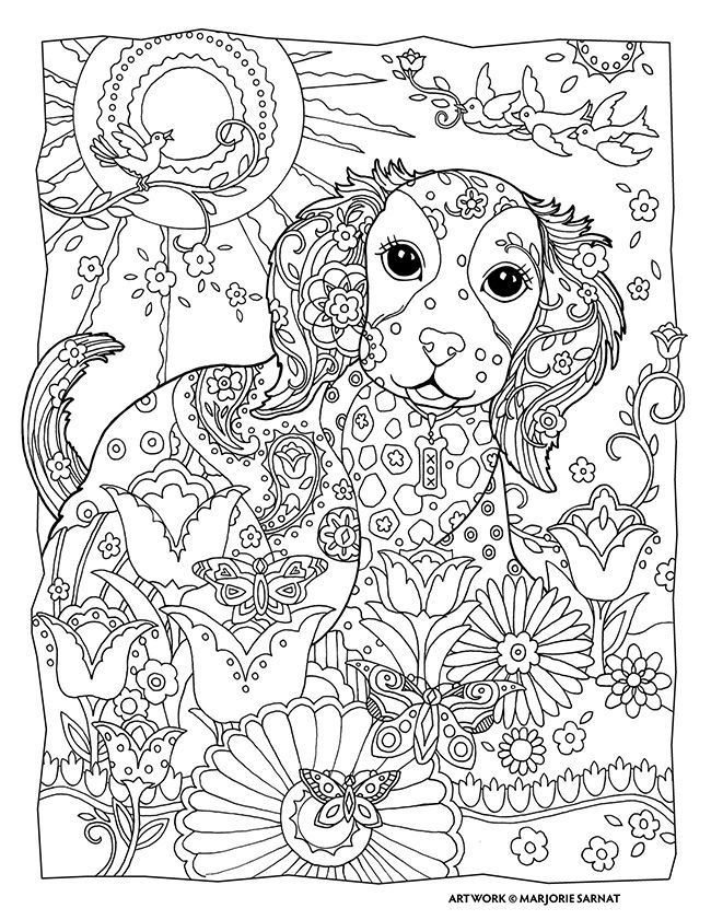 Best ideas about Dogs Coloring Pages For Adults . Save or Pin Dogs Coloring Pages Difficult Adult Coloring Home Now.