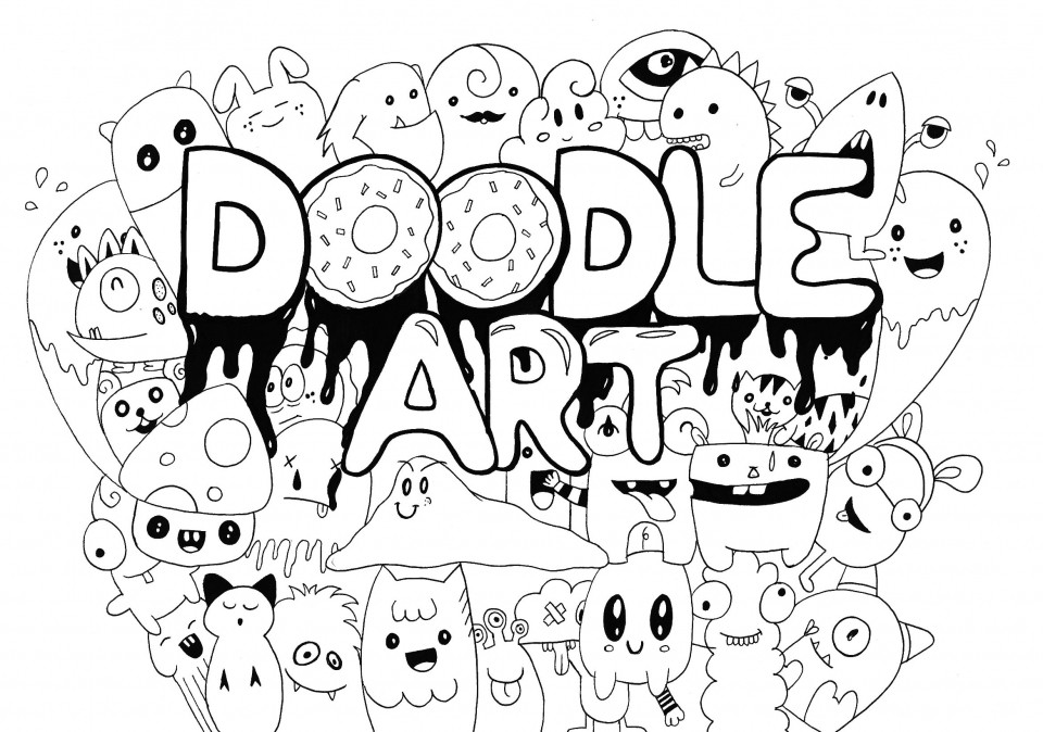 Doodle Art Coloring Pages  20 Free Printable Doodle Art Coloring Pages for Adults