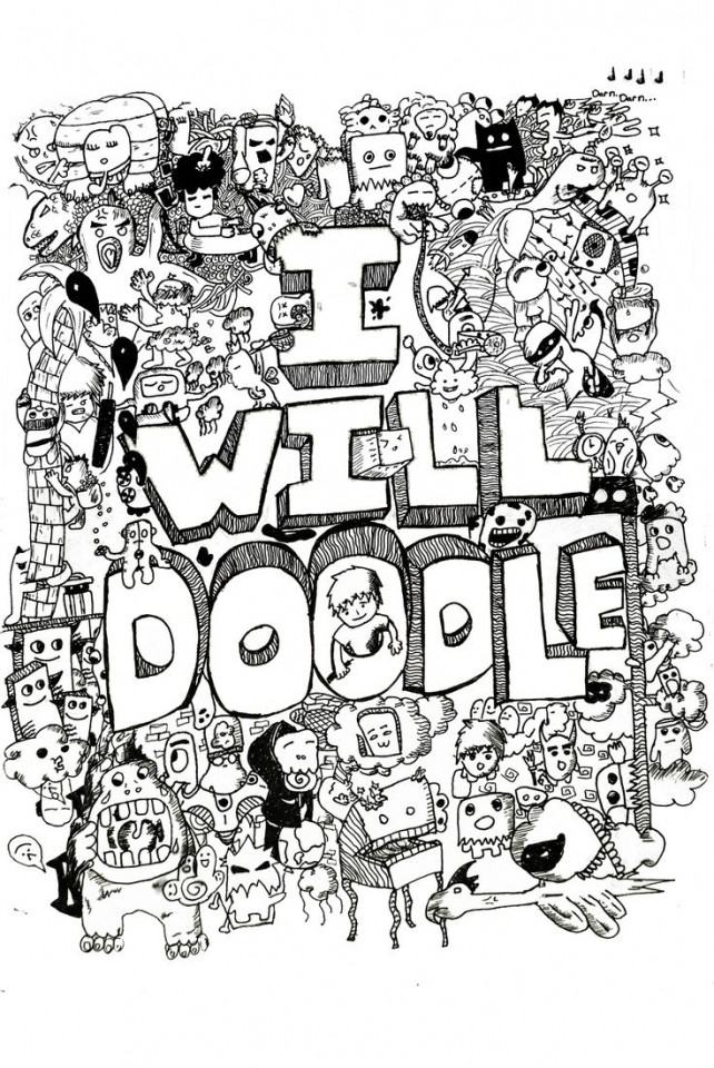 Doodle Art Coloring Pages  Get This Free Printable Doodle Art Advanced Coloring Pages
