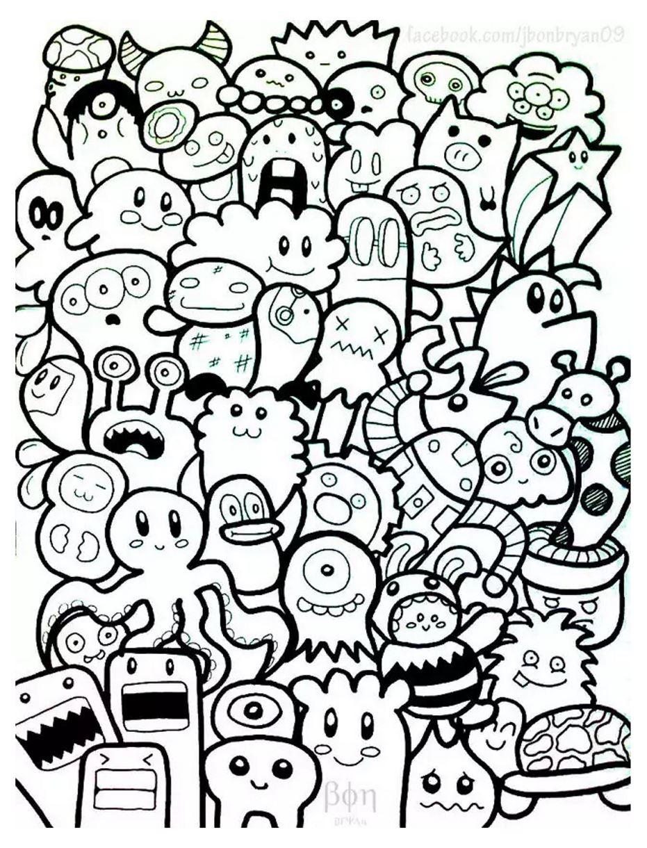 Doodle Art Coloring Pages  Doodle art doodling 7 Doodle Art Doodling Adult