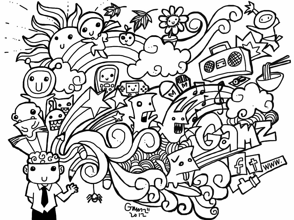 Doodle Art Coloring Pages  Free Doodle Art Coloring Pages Coloring Home
