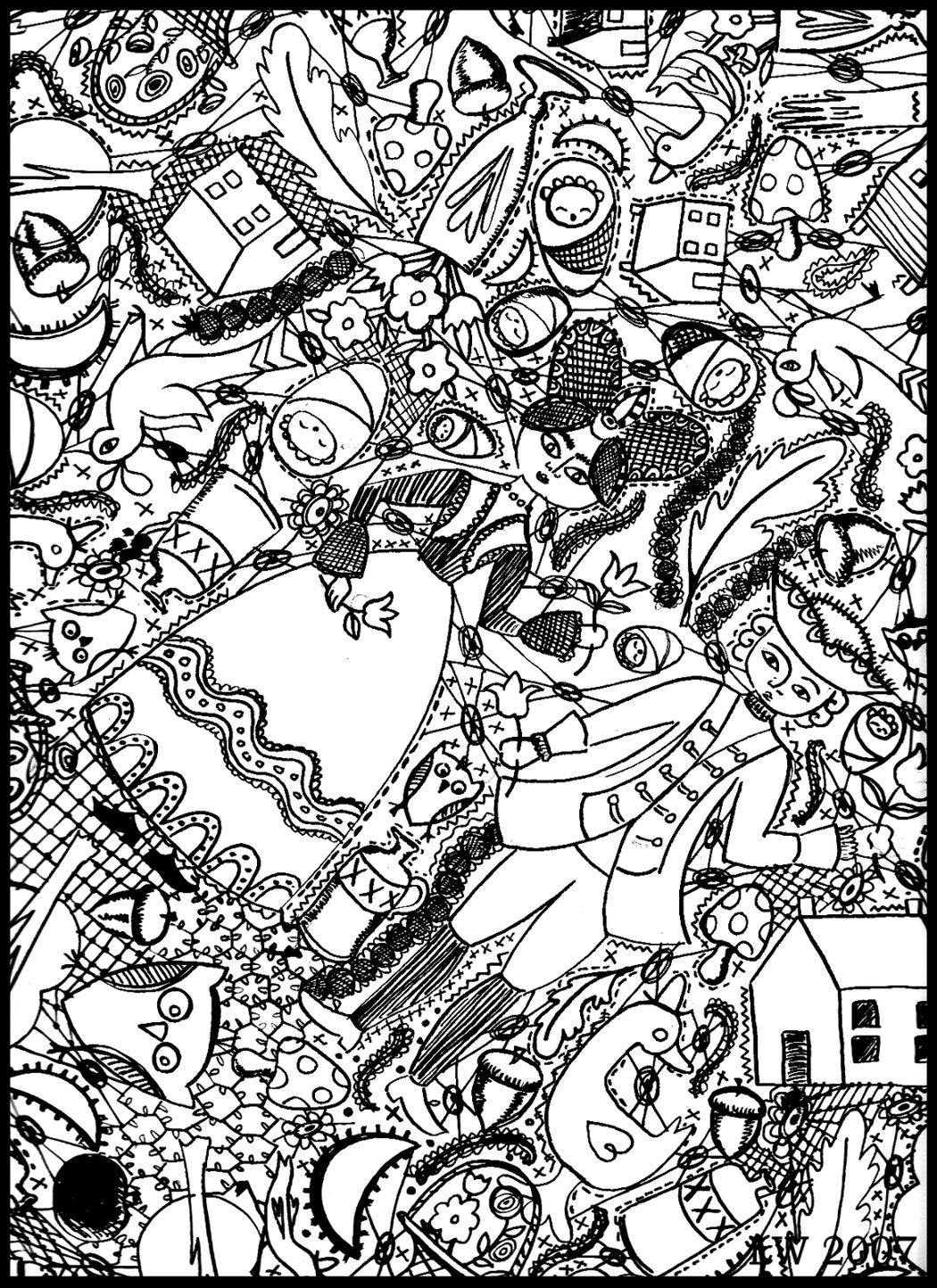 Doodle Art Coloring Pages  Free Doodle Art Coloring Pages Do Your Best Gianfreda