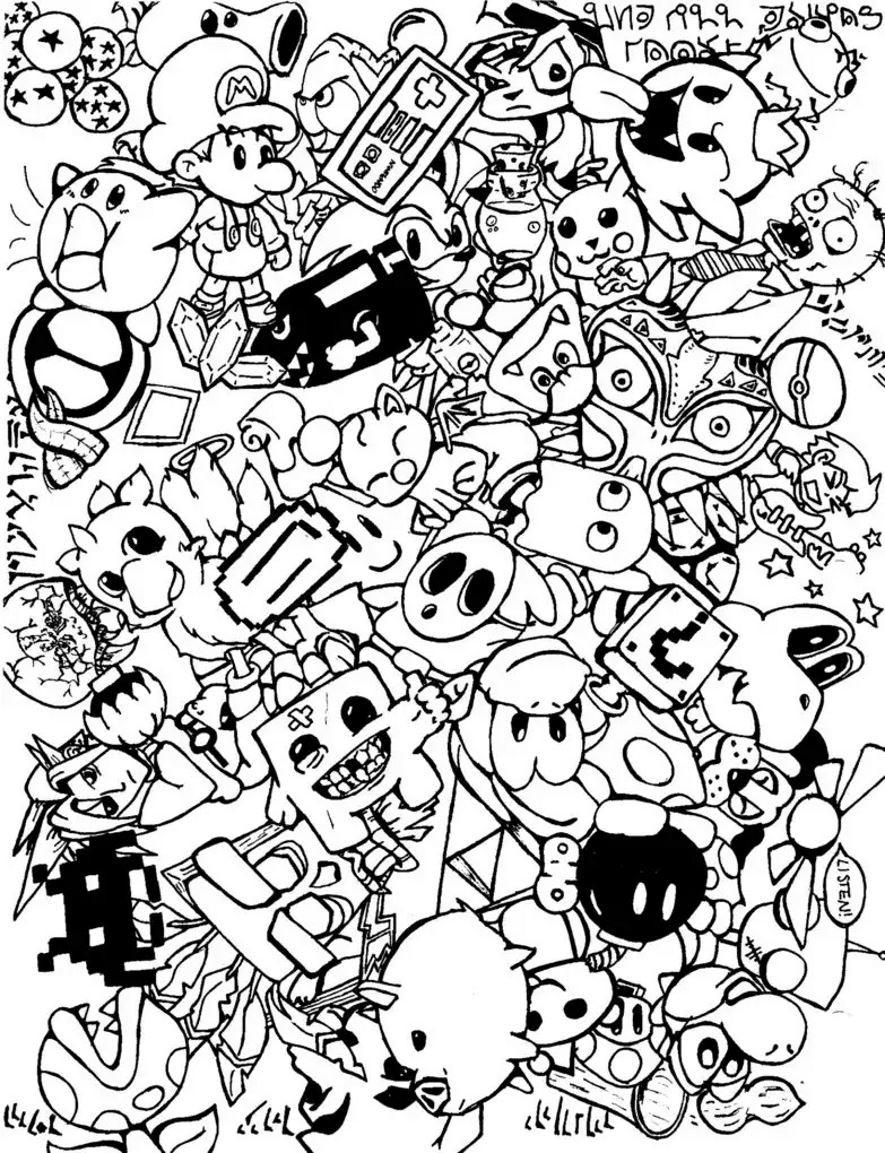 Doodle Art Coloring Pages  Doodle art doodling 5 Doodle Art Doodling Adult