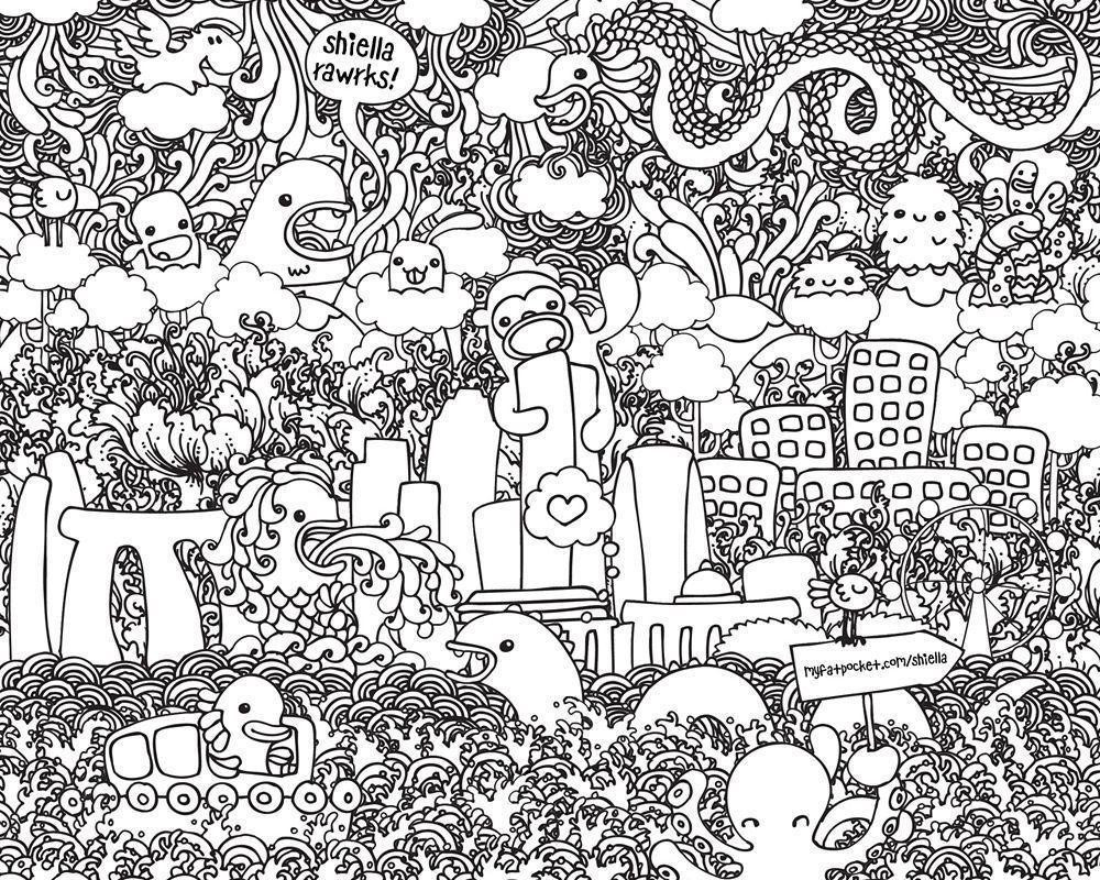 Doodle Art Coloring Pages  Doodle Wallpapers Wallpaper Cave