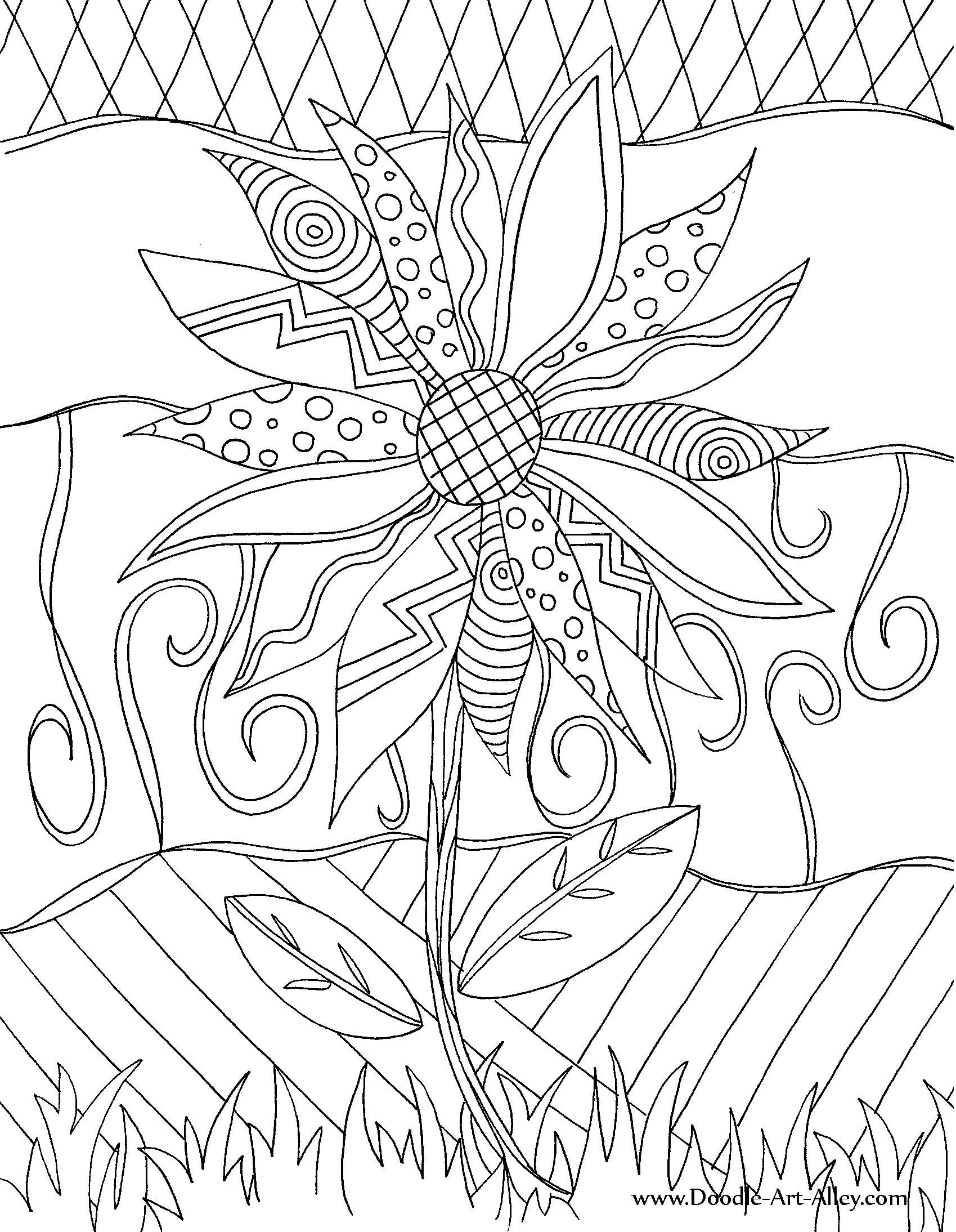 Doodle Art Coloring Pages  22 Collections of Free Doodle Coloring Pages Gianfreda