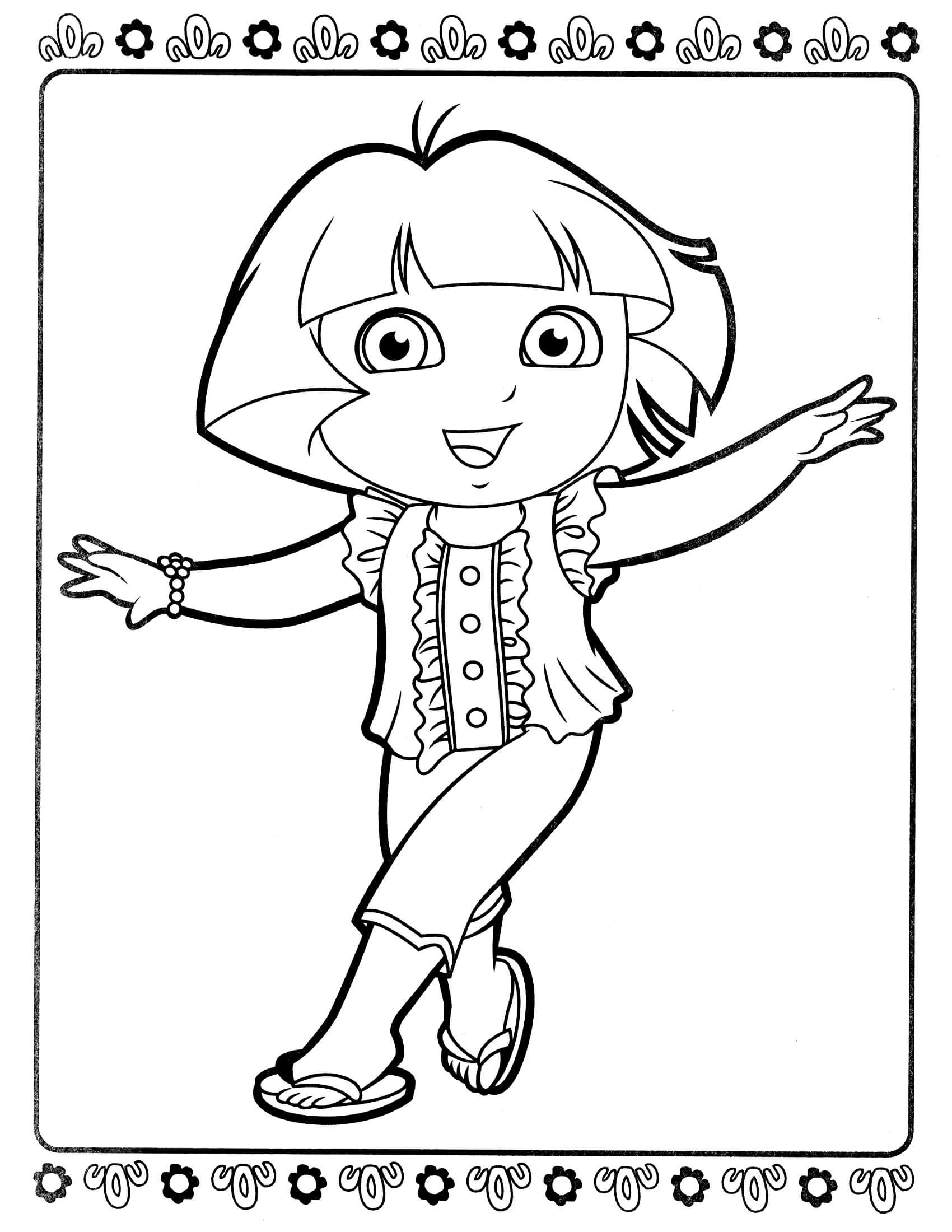 Dora Coloring Pages For Girls  Dora 56 Coloringcolor
