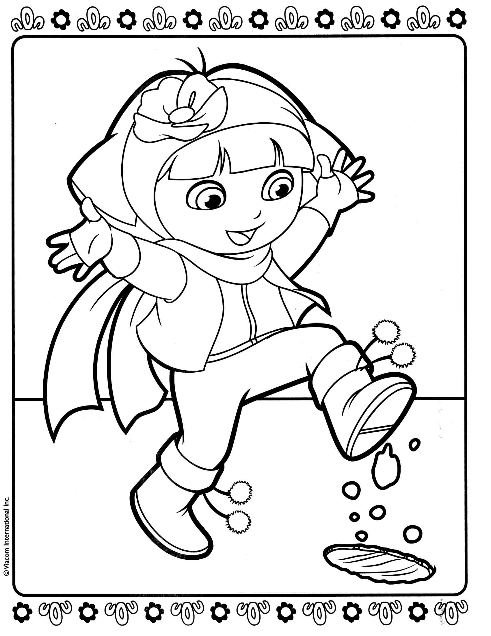 Dora Coloring Pages For Girls  Dora 9 – Coloringcolor