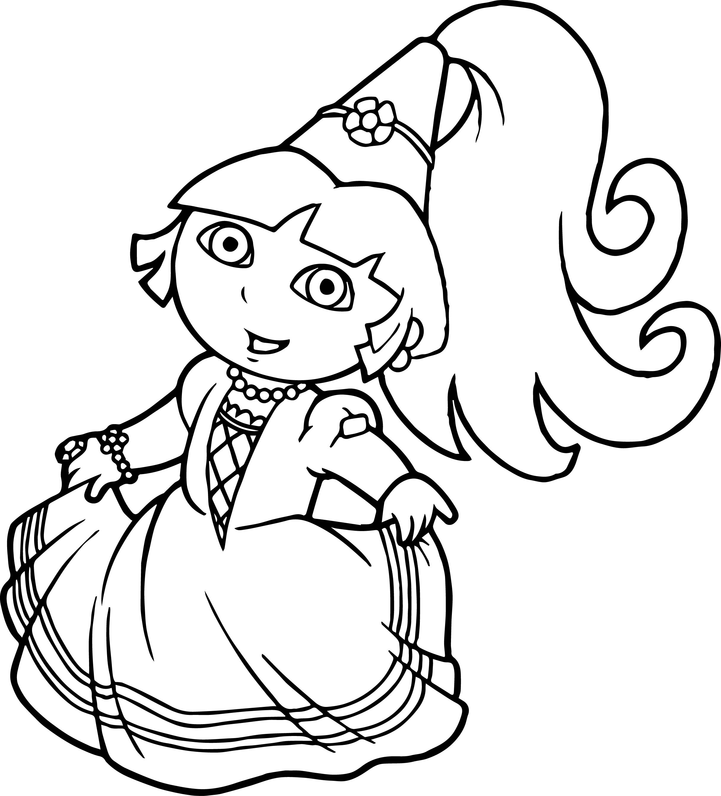 Dora Coloring Pages For Girls  dora princess coloring pages Printable