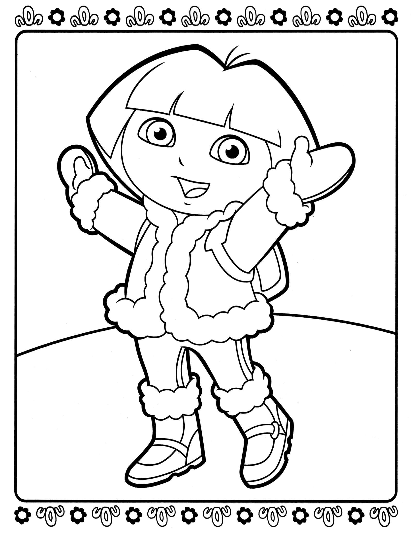 Dora Coloring Pages For Girls  Dora 2 – Coloringcolor