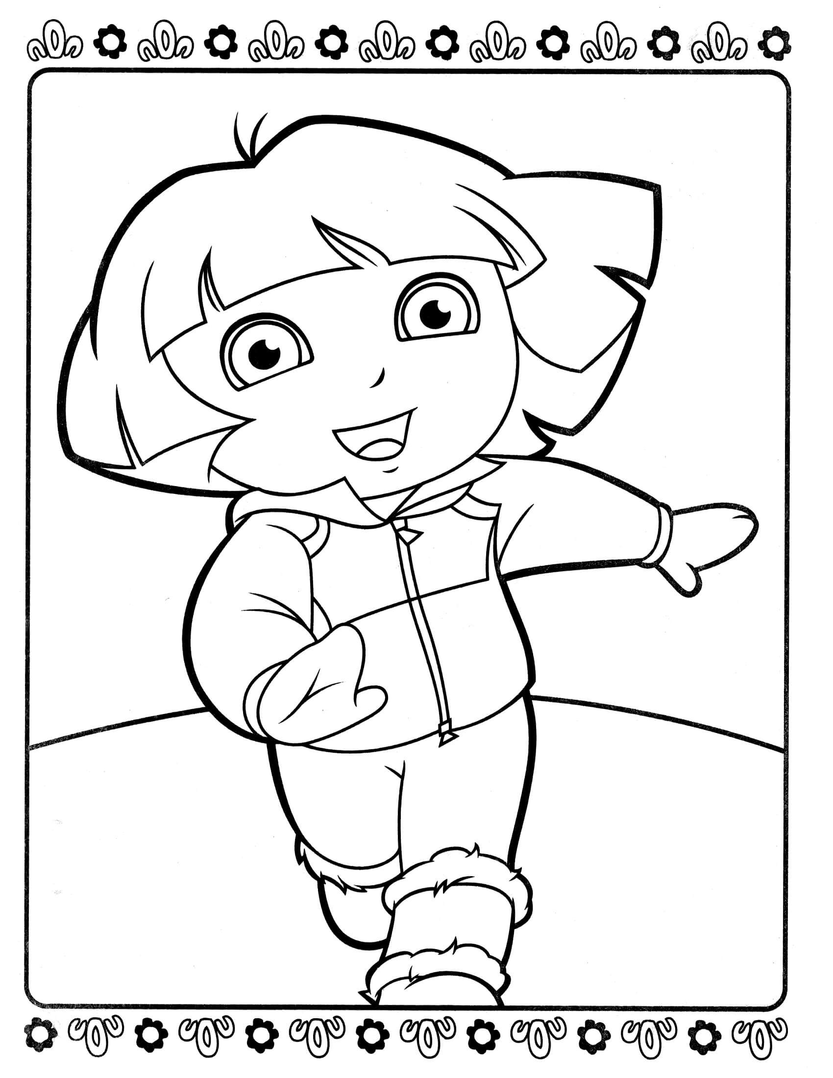 Dora Coloring Pages For Girls  Dora 8 – Coloringcolor