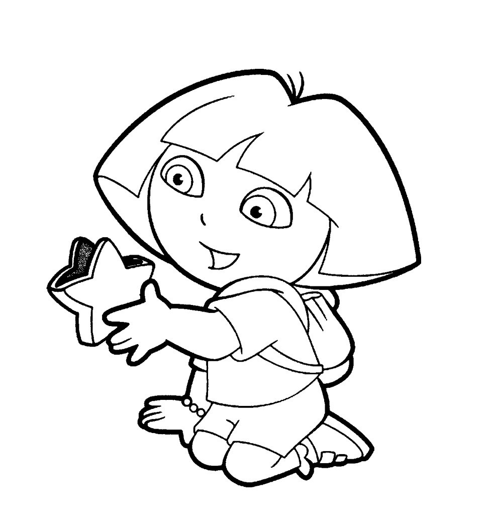 Dora Coloring Pages For Girls  Printable Coloring Pages For Girls Dora