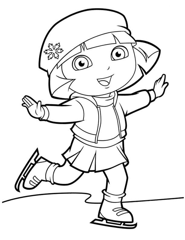 Dora Coloring Pages For Girls  Dora coloring pages for girls ColoringStar