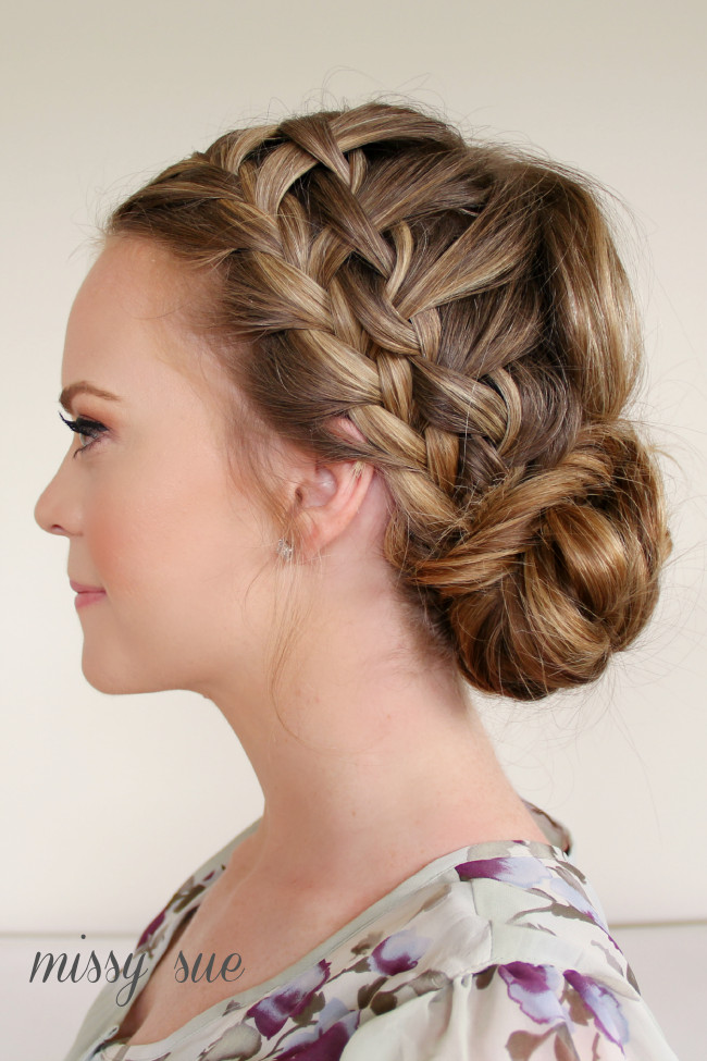 Double Braid Hairstyles  Braid 10 Double Waterfall Braids and Fishtail Bun