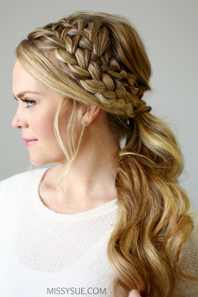 Double Braid Hairstyles  Double Braided Ponytail